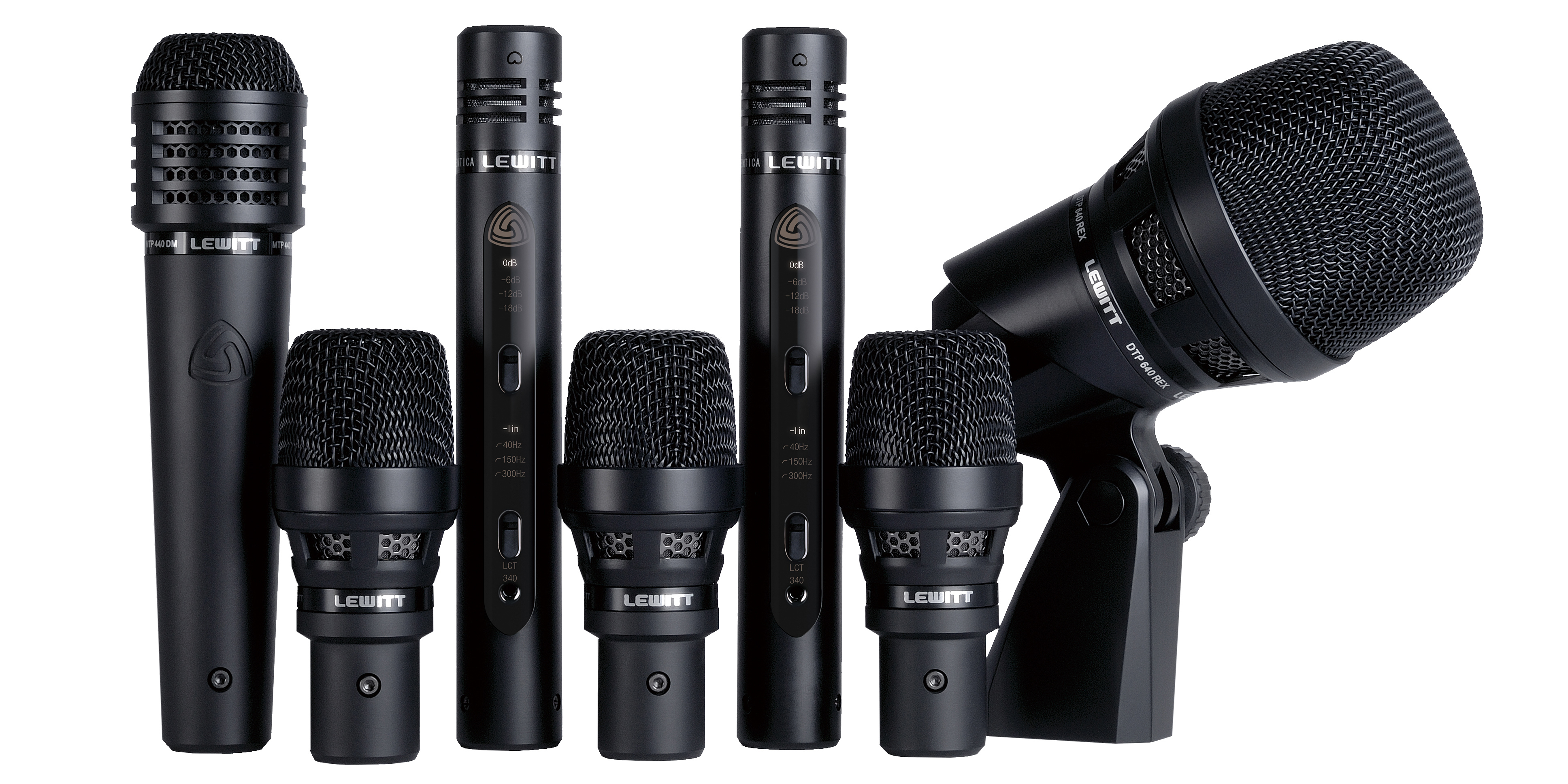This image shows all microphones included in the DTP Beat Kit Pro 7 drum package
