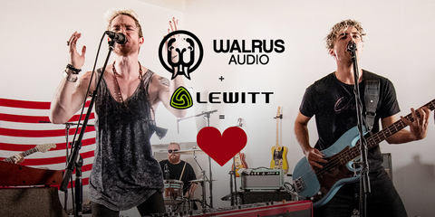 "LEWITT MTP 740 CM at Walrus Audio ""Songs at the Shop"" with Walk the Moon"