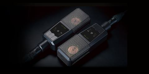 This image shows a matched pair of the LCT 550 cardioid condenser microphone.