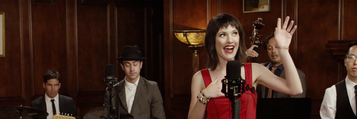 Postmodern Jukebox using the LCT 840 tube microphone