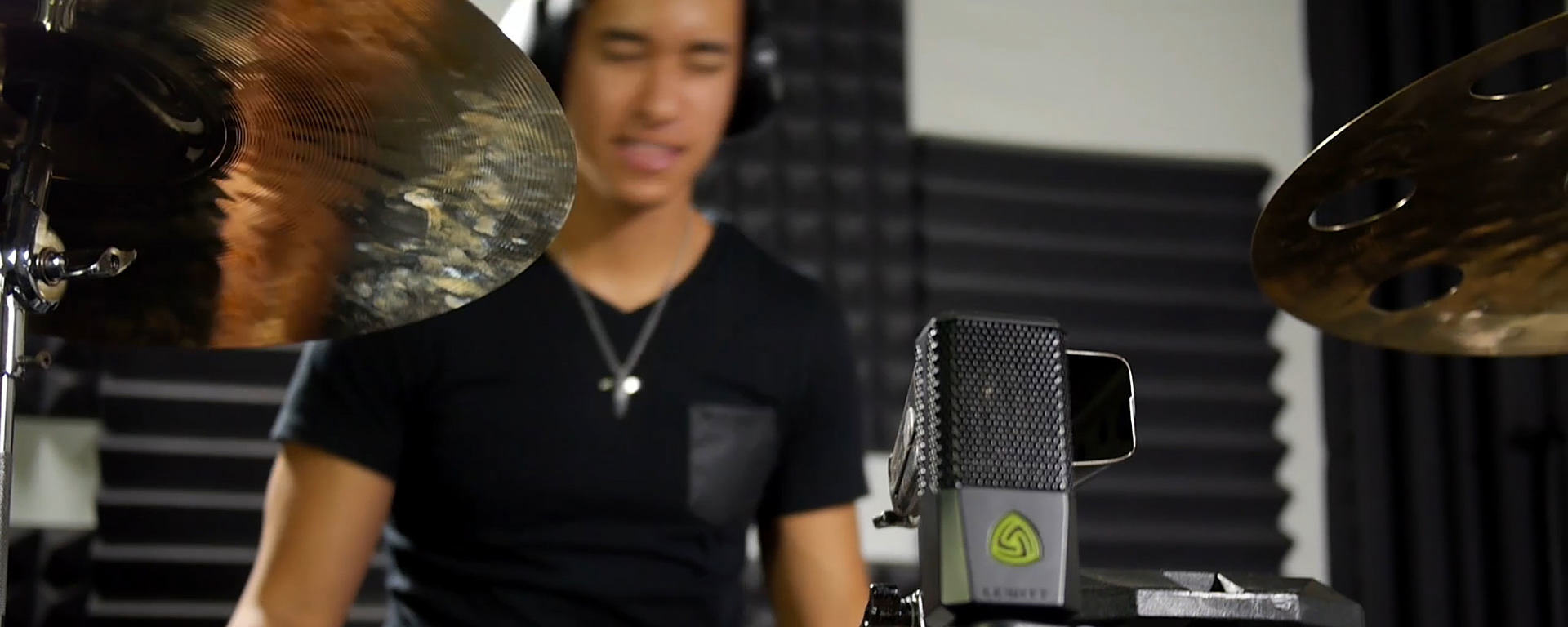 Tony Succar uses LEWITT studio drum microphones