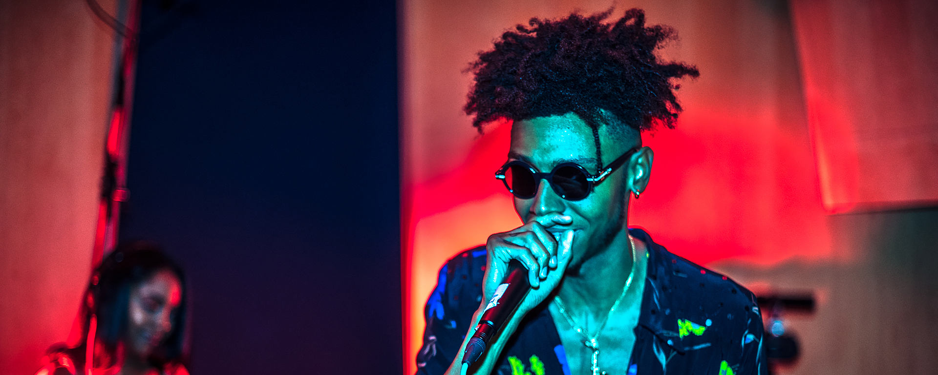 Masego live at Metropolis studios with the MTP 550 DM reference microphone