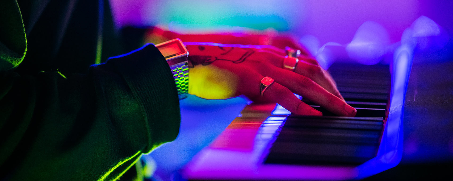 Clash playing Keyboard at Metropolis studio